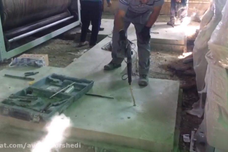 مراحل آماده سازی محل سوراخ در بتن برای کاشت میلگرد با چسب کاشت INDEX